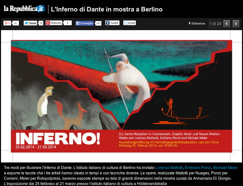INFERNO EXHIBITION, February 25/March 21 2014, Berlin Italienisches Kulturinstitut [img 2]
