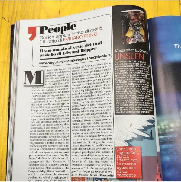 L'uomo Vogue interview Emiliano Ponzi illustration