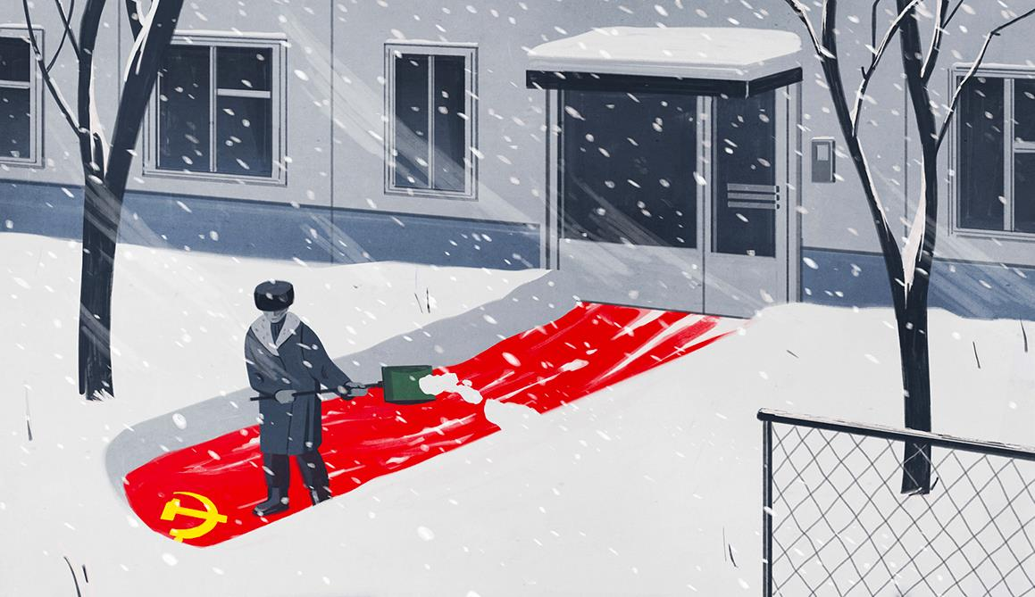 Der Spiegel book review illustration, Emiliano Ponzi