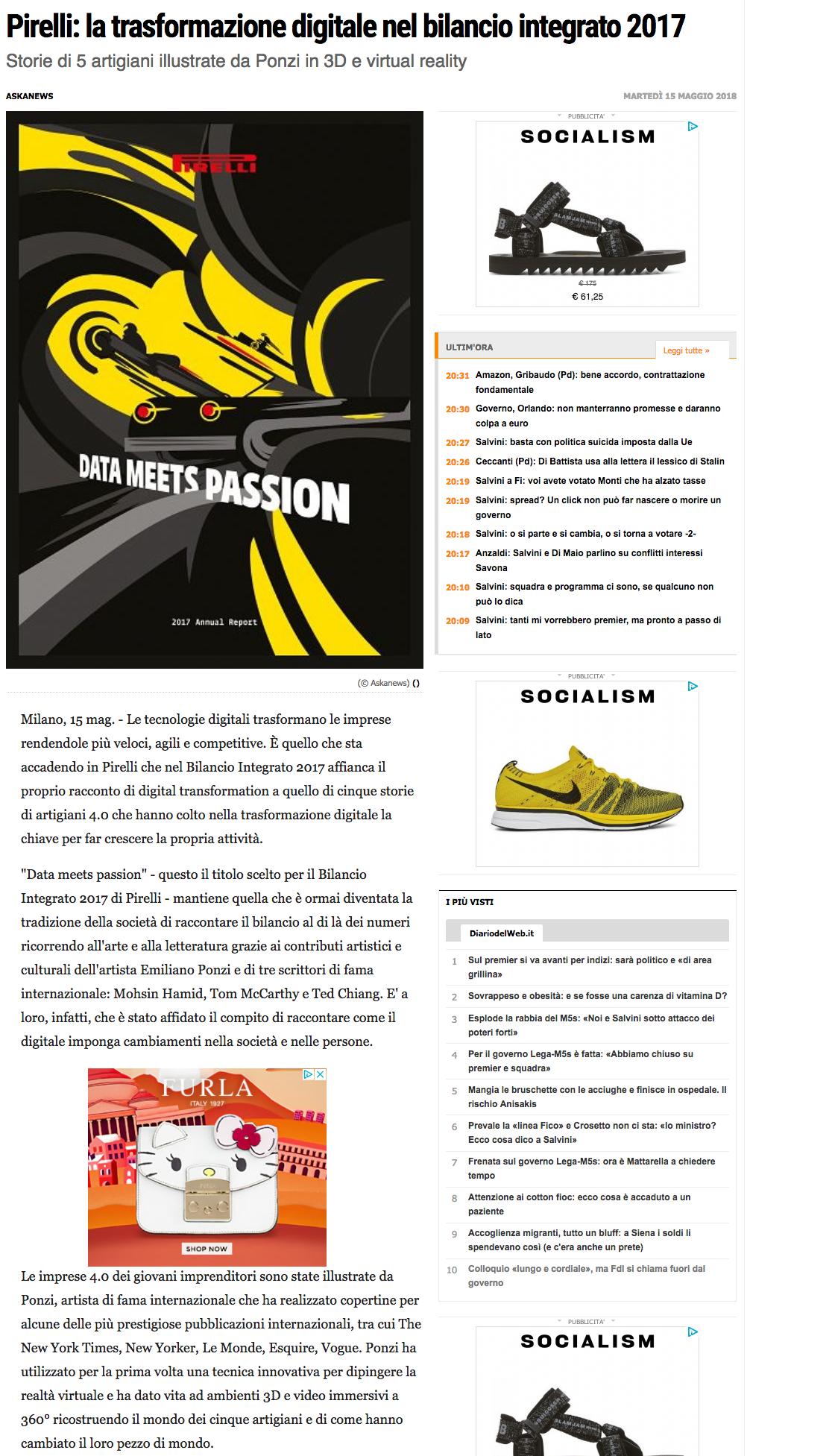 Diaro Del Web Pirelli Emiliano Ponzi