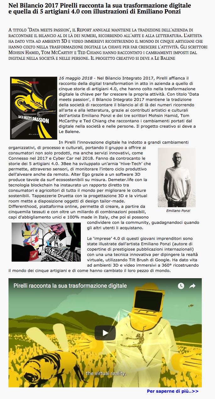 Emiliano Ponzi Ideeideas Pirelli