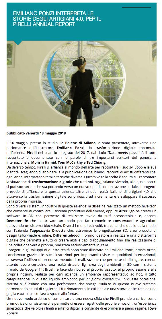Pirelli Exibart, Emiliano Ponzi